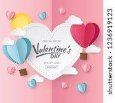 valentines day sale background...   Shutterstock .eps vector #1236919123