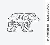 the bear design in it is a...   Shutterstock .eps vector #1236921400