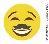 emoji mustache face vector...