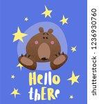 funny vector illustration of... | Shutterstock .eps vector #1236930760