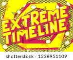 extreme timeline   vector... | Shutterstock .eps vector #1236951109