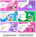 leadership man on top of... | Shutterstock .eps vector #1236952030