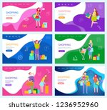 shopping people with bought... | Shutterstock .eps vector #1236952960
