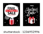 final christmas sale  holiday... | Shutterstock .eps vector #1236952996