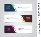 vector abstract banner design.... | Shutterstock .eps vector #1236953593