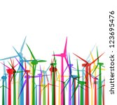 colorful wind electricity... | Shutterstock .eps vector #123695476