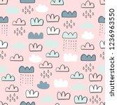 cute seamless pattern for kids  ... | Shutterstock .eps vector #1236963550