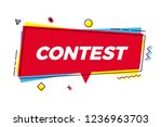 contest vector banner speech... | Shutterstock .eps vector #1236963703