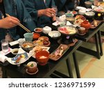 while have a japanese food... | Shutterstock . vector #1236971599