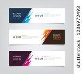 vector abstract web banner... | Shutterstock .eps vector #1236972493