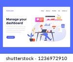 web design landing page...   Shutterstock .eps vector #1236972910