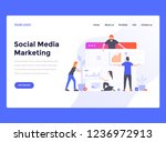web design landing page... | Shutterstock .eps vector #1236972913