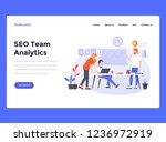 web design landing page... | Shutterstock .eps vector #1236972919
