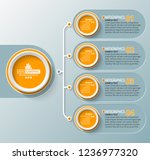 vector abstract 3d paper... | Shutterstock .eps vector #1236977320