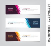 vector abstract banner design... | Shutterstock .eps vector #1236981199