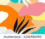colorful memphis design... | Shutterstock .eps vector #1236986590
