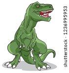 tyrannosaurus rex vector... | Shutterstock .eps vector #1236995953