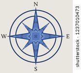decorative compass rose... | Shutterstock .eps vector #1237010473