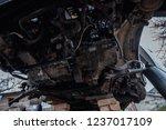 bottom of the disassembled car  ... | Shutterstock . vector #1237017109