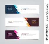 vector abstract banner design.... | Shutterstock .eps vector #1237033123