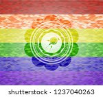 fertilization icon on mosaic... | Shutterstock .eps vector #1237040263