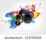 abstract music background with... | Shutterstock .eps vector #123704329
