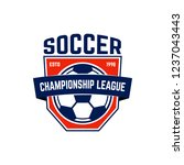 soccer  football emblem. design ... | Shutterstock .eps vector #1237043443