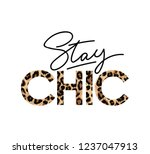 stay chic fashion print with... | Shutterstock .eps vector #1237047913