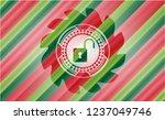 open lock icon inside christmas ...   Shutterstock .eps vector #1237049746
