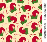 christmas seamless pattern with ... | Shutterstock .eps vector #1237052680