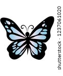 beautiful blue butterfly ... | Shutterstock .eps vector #1237061020
