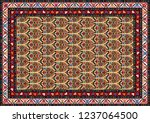 colorful oriental mosaic rug... | Shutterstock .eps vector #1237064500