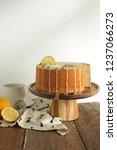 Small photo of Lemon Earl Grey Chiffon Cake On Cake Stan , Hot Earl Grey in Cup