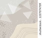 serene scarf pattern design | Shutterstock .eps vector #1237074709