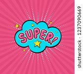 speech bubble super on the rays ...   Shutterstock .eps vector #1237090669