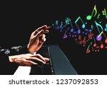 male songwriter hands composing ... | Shutterstock . vector #1237092853