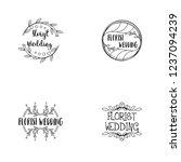 florist wedding logo design | Shutterstock .eps vector #1237094239