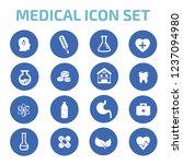 medical vector icon set | Shutterstock .eps vector #1237094980