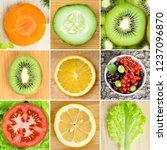 background of fruits and... | Shutterstock . vector #1237096870