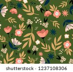 floral seamless pattern with... | Shutterstock .eps vector #1237108306