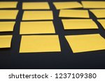 yellow empty sticker notes on... | Shutterstock . vector #1237109380