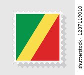 republic of the congo flag on... | Shutterstock .eps vector #1237119010