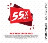 55  discount sale off 55 ... | Shutterstock .eps vector #1237120540