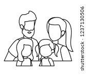 parents couple with daughters... | Shutterstock .eps vector #1237130506