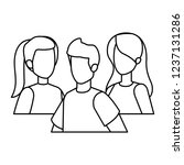 group of people characters | Shutterstock .eps vector #1237131286