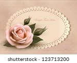 Retro Greeting Card With Pink...