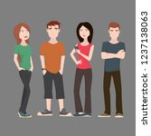 teenagers character flat set | Shutterstock .eps vector #1237138063