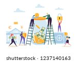money savings concept. business ... | Shutterstock .eps vector #1237140163