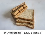bread expired  whole wheat... | Shutterstock . vector #1237140586