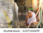 car paint repairer.   Shutterstock . vector #1237142659